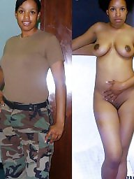 undressed girls dressed Naked army