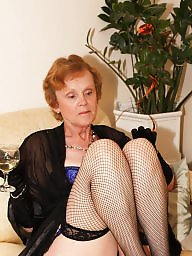 Mature stockings, Basque, Fishnet