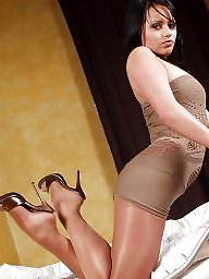 High heels, Mules, Stockings, Heels