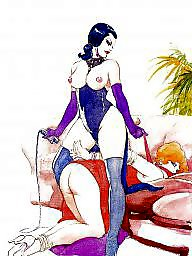 Femdom cartoon, Cartoon lesbian, Lesbian cartoons, Cartoons, Cartoon, Lesbian cartoon