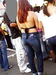 Candid ass, Jeans, Latina ass, Candid