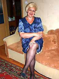 Upskirt! mature legs in stockings! russian amateur!