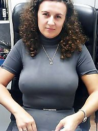 Mature tits, Office, Mature slut