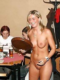 Public tits, Waitress, Naked
