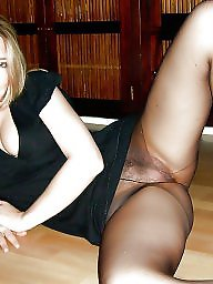 Stockings, Mature stockings, Voyeur, Stocking, Mature