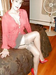 Mature stockings, Dress, Mature dress, Dressed