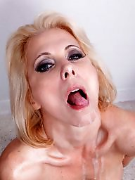 My favourite milf, My favourite, Milf facials, Milf facialized, Milf blowjob facial, Facials milfs