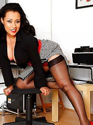 Upskirt stockings, Secretary, Office