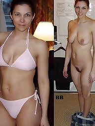 nude and Amateur clothed