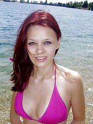 Amateur redhead, Bathing, Bath