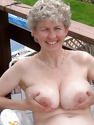 Flashing tits, Mature slut