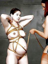 묶어두고, 매기, 임신한, 본디지, 묶고