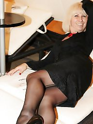 Mature dress, Mature stockings, Dress