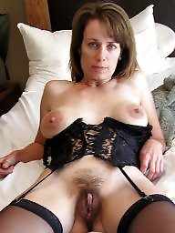 Hairy milf playing