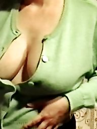 Downblouse, Braless, Mature downblouse, Hangers, Dirty, Big mature