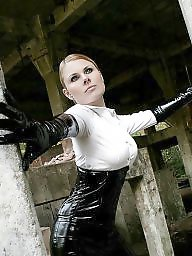 Latex amateur, Gloves, Latex, Corset, Pants, Femdom