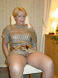 Mature upskirt, Mature stockings, Mature nylon