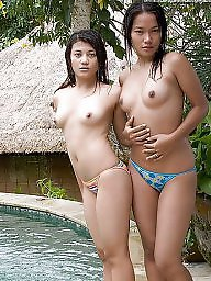 Asian, Indonesian, Group, Girl, Tits, Girls