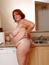 Chubby, Housewife, Mature kitchen, Mature housewife, Kitchen, Mature chubby