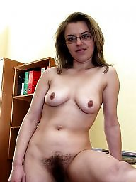 Exposed, Hairy milf, Bush, Milf hairy, Glasses