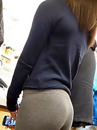 Leggings, Voyeur, Hidden cam, Ass, Hidden, Asses