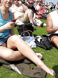 Public panty voyeur