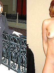 Mature dressed undressed, Undressed, Dress