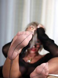 Lady barbara, Mature feet, Lady b, Nylon feet, Stocking feet, Mature stockings