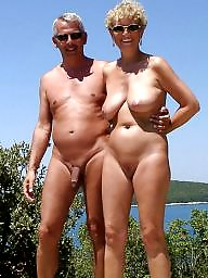 beach nude Old couples