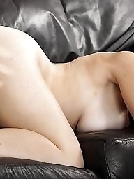 Housewife, Naked, Jerking, Couch, Jerk off