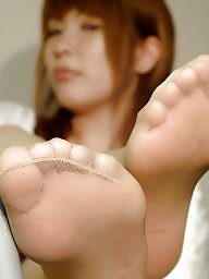 Asian stockings, Nylon feet, Feet, Asian feet
