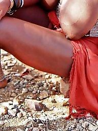 Saggy tits, Saggy, Ebony public, Tribal