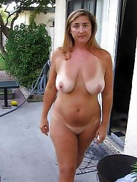 tits line Mature tan