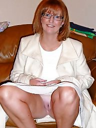Big mature, Mature glasses, Lady, Glasses