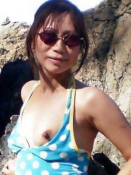 Asian amateur, Asian, Vacation, Milf, Milf beach, Horny