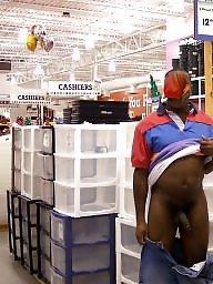Flashing ebony, Ebony public, Public, Ebony black