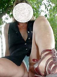 Upskirt mature, My wife