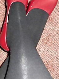 Red,stockings, Red shoes, Red stockings, Red stocking, Red amateur, Stockings shoes