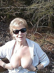 Granny tits, Mature flashing, Shy, Flashing tits, Show, Granny