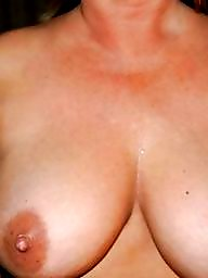 Tits out, Mature cum, Cum tits, Tits, Old tits, Mature
