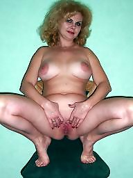 Squat, Squatting, Russian milf, Russian mature, Mature russian