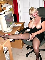Teasing, Teased, Tease, Stockings teasing, Stockings tease, Stockings secretary