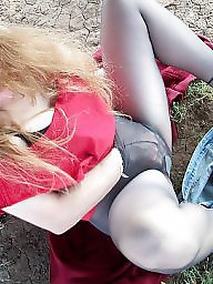 Mature redhead, Mature outdoor, Lady, Lady b, Outdoor mature