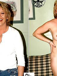 Mature dressed undressed, Dressed