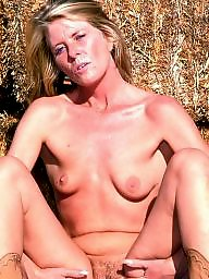 Mature ass, Farm, Blond mature