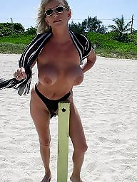 Mature beach, Mature, Grannies, Grannys, Granny boobs