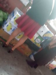 Romanian, Hidden cam, Skirt, Mature skirt, Hidden