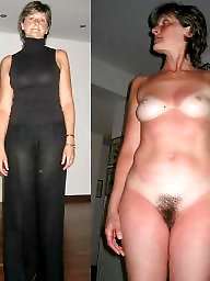 Undressed, Dressed undressed, Dress, Mature tits