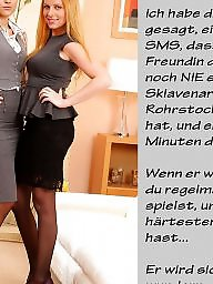 German captions, German caption, Femdom captions, Femdom caption, German, German femdom