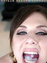 Facial, Brunette, Big boobs, Facials, Big